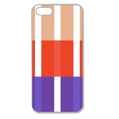 Compound Grid Flag Purple Red Brown Apple Seamless iPhone 5 Case (Clear)