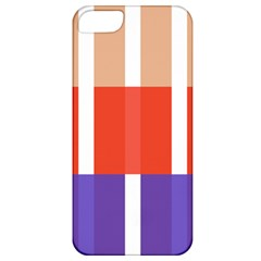 Compound Grid Flag Purple Red Brown Apple iPhone 5 Classic Hardshell Case