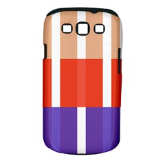 Compound Grid Flag Purple Red Brown Samsung Galaxy S III Classic Hardshell Case (PC+Silicone)