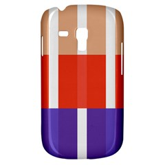 Compound Grid Flag Purple Red Brown Galaxy S3 Mini