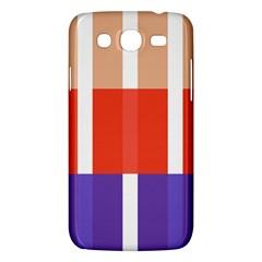 Compound Grid Flag Purple Red Brown Samsung Galaxy Mega 5.8 I9152 Hardshell Case