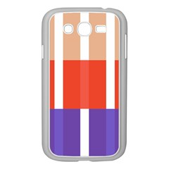 Compound Grid Flag Purple Red Brown Samsung Galaxy Grand DUOS I9082 Case (White)