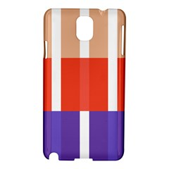 Compound Grid Flag Purple Red Brown Samsung Galaxy Note 3 N9005 Hardshell Case