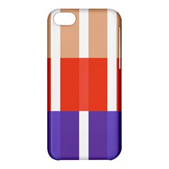 Compound Grid Flag Purple Red Brown Apple iPhone 5C Hardshell Case