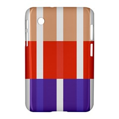 Compound Grid Flag Purple Red Brown Samsung Galaxy Tab 2 (7 ) P3100 Hardshell Case