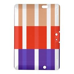 Compound Grid Flag Purple Red Brown Kindle Fire HDX 8.9  Hardshell Case