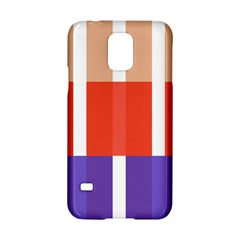 Compound Grid Flag Purple Red Brown Samsung Galaxy S5 Hardshell Case