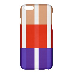 Compound Grid Flag Purple Red Brown Apple iPhone 6 Plus/6S Plus Hardshell Case