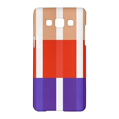 Compound Grid Flag Purple Red Brown Samsung Galaxy A5 Hardshell Case