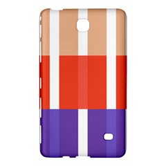 Compound Grid Flag Purple Red Brown Samsung Galaxy Tab 4 (7 ) Hardshell Case
