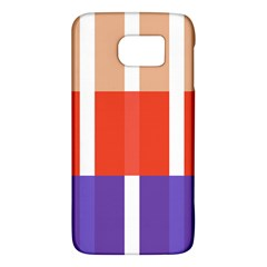 Compound Grid Flag Purple Red Brown Galaxy S6