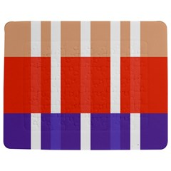 Compound Grid Flag Purple Red Brown Jigsaw Puzzle Photo Stand (Rectangular)