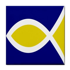 Flag Blue Yellow White Tile Coasters