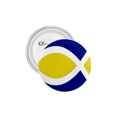 Flag Blue Yellow White 1 75  Buttons