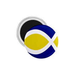 Flag Blue Yellow White 1.75  Magnets