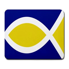 Flag Blue Yellow White Large Mousepads
