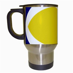 Flag Blue Yellow White Travel Mugs (White)