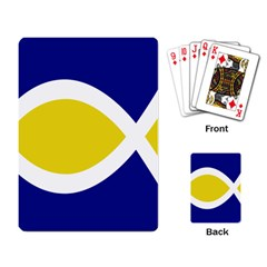 Flag Blue Yellow White Playing Card