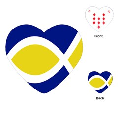 Flag Blue Yellow White Playing Cards (Heart)