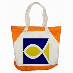 Flag Blue Yellow White Accent Tote Bag