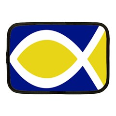 Flag Blue Yellow White Netbook Case (medium)