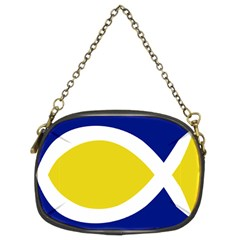 Flag Blue Yellow White Chain Purses (Two Sides)