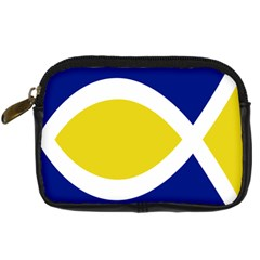 Flag Blue Yellow White Digital Camera Cases