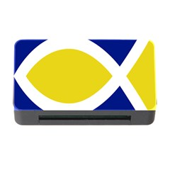 Flag Blue Yellow White Memory Card Reader with CF