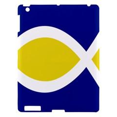 Flag Blue Yellow White Apple iPad 3/4 Hardshell Case