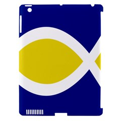 Flag Blue Yellow White Apple iPad 3/4 Hardshell Case (Compatible with Smart Cover)