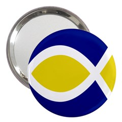 Flag Blue Yellow White 3  Handbag Mirrors