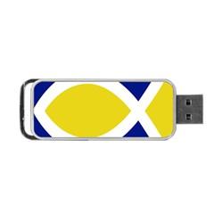 Flag Blue Yellow White Portable USB Flash (Two Sides)