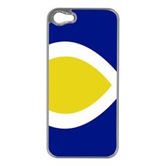Flag Blue Yellow White Apple iPhone 5 Case (Silver)