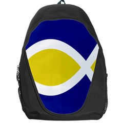 Flag Blue Yellow White Backpack Bag