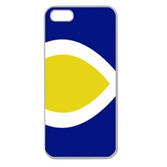 Flag Blue Yellow White Apple Seamless iPhone 5 Case (Clear)