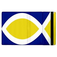 Flag Blue Yellow White Apple iPad 3/4 Flip Case