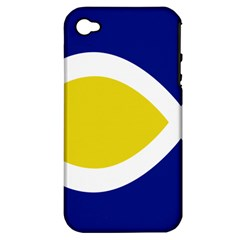 Flag Blue Yellow White Apple iPhone 4/4S Hardshell Case (PC+Silicone)