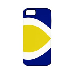 Flag Blue Yellow White Apple Iphone 5 Classic Hardshell Case (pc+silicone)