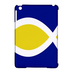 Flag Blue Yellow White Apple iPad Mini Hardshell Case (Compatible with Smart Cover)
