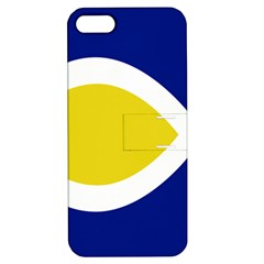 Flag Blue Yellow White Apple iPhone 5 Hardshell Case with Stand