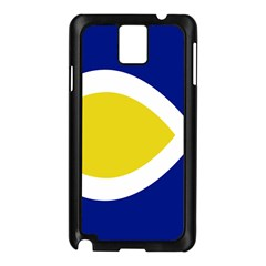 Flag Blue Yellow White Samsung Galaxy Note 3 N9005 Case (Black)