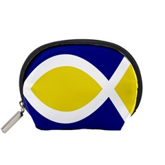 Flag Blue Yellow White Accessory Pouches (Small)
