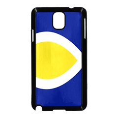 Flag Blue Yellow White Samsung Galaxy Note 3 Neo Hardshell Case (Black)