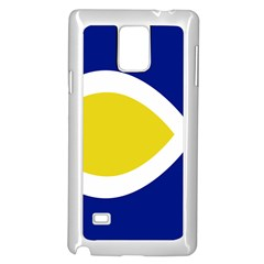 Flag Blue Yellow White Samsung Galaxy Note 4 Case (White)
