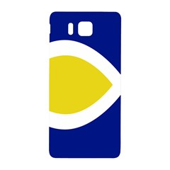 Flag Blue Yellow White Samsung Galaxy Alpha Hardshell Back Case