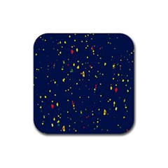 Christmas Sky Happy Rubber Square Coaster (4 pack)