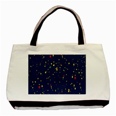 Christmas Sky Happy Basic Tote Bag