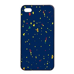 Christmas Sky Happy Apple iPhone 4/4s Seamless Case (Black)