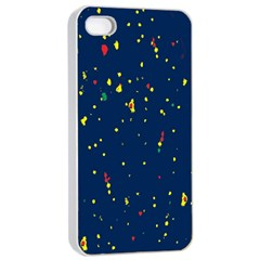 Christmas Sky Happy Apple iPhone 4/4s Seamless Case (White)