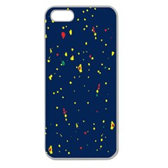 Christmas Sky Happy Apple Seamless iPhone 5 Case (Clear)